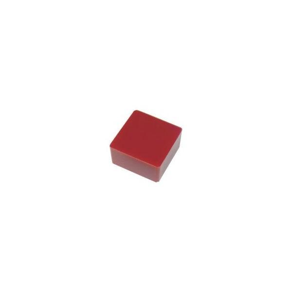 防振・緩衝ブロック ゲルダンパー 赤 50X50mm エクシール 7050-1383