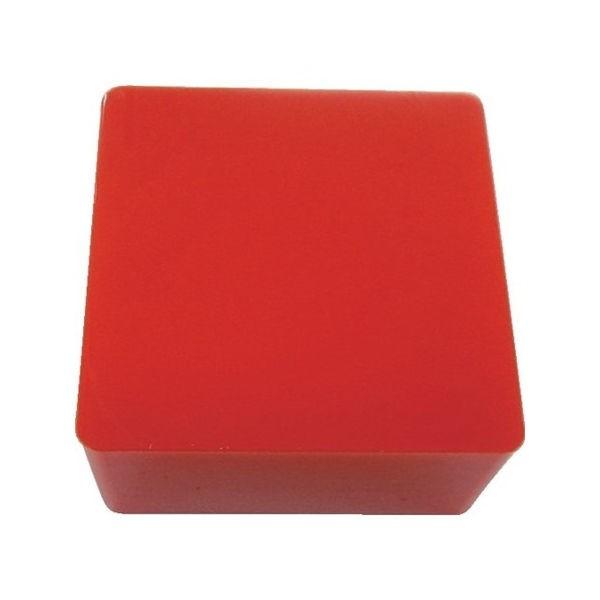 防振・緩衝ブロック ゲルダンパー 赤 100X100mm エクシール 70100-1383