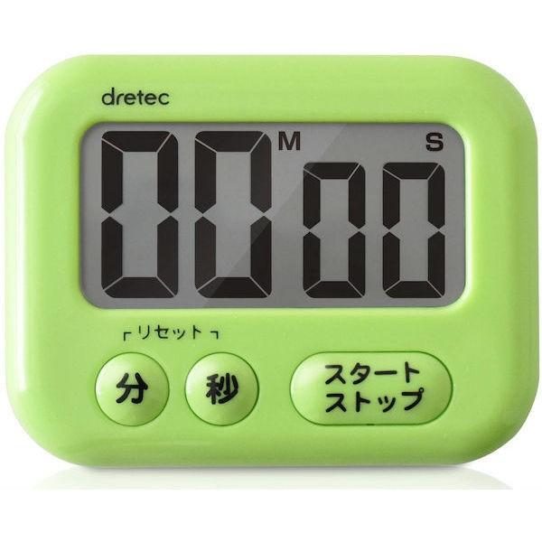 全品P5〜10倍 dretec(ドリテック) 大画面タイマー シャボン グリーン