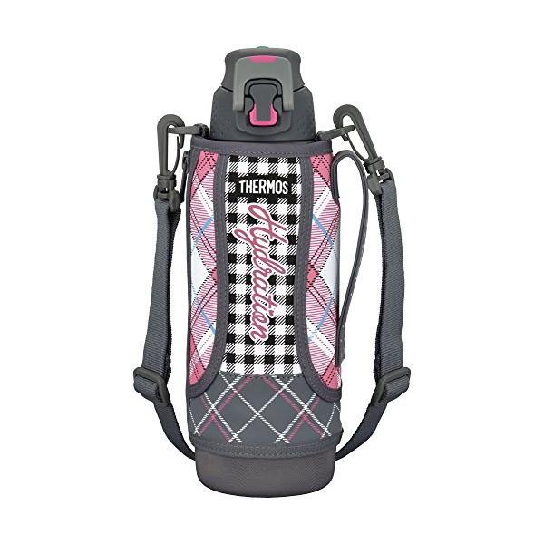 全品P5〜10倍 THERMOS(サーモス) 水筒 真空断熱スポーツボトル ワンタッチオープンタイプ 1.0L グレイギンガム FFZ-1002F-GGM