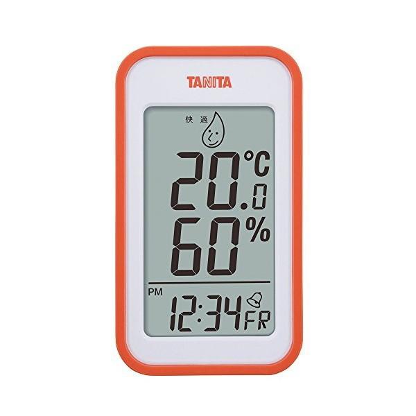 タニタ(TANITA) デジタル温湿度計 置き掛け両用タイプ/マグネット付 オレンジ TT-559-OR