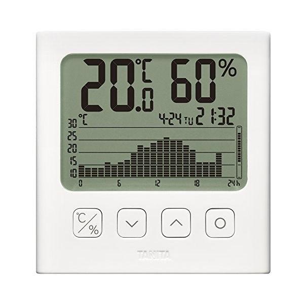 TANITA デジタル温湿度計 グラフ付 ホワイト TT-580 WH タニタ