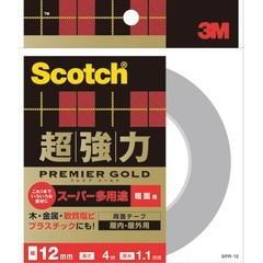 スコッチ 超強力両面テープ プレミアゴールド スーパー多用途 粗面用 12mm×4m SPR-12