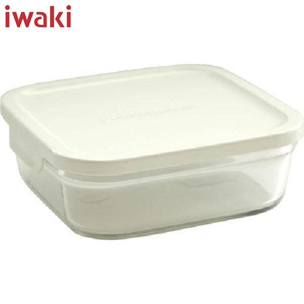iwaki(イワキ) パック レンジ 浅型 M (小) 880ml ホワイト KN3247-W AGCテクノグラス