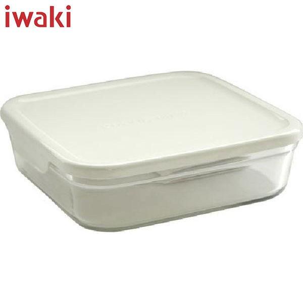 iwaki(イワキ) パック レンジ 浅型 L (大) 1.3L ホワイト KN3248-W AGCテクノグラス