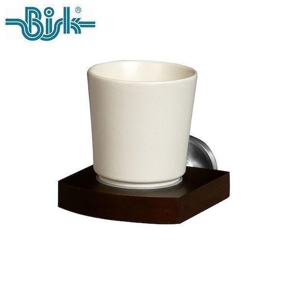 P5倍 OPUS BISK MADAGASKAR タンブラー BKMG-TBL968SD 歯ブラシ 洗面所 セラミック 木製 ステンレス ビスク オーパス