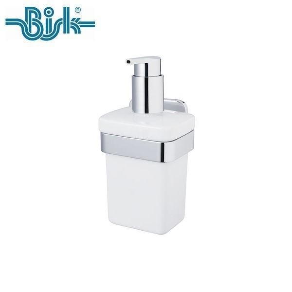 P5倍 OPUS BISK TORE ソープディスペンサー BKTR-SDS7821CH 洗面 セラミック 陶器 ステンレス シルバー 壁取付 ネジ付 ビスク オーパス