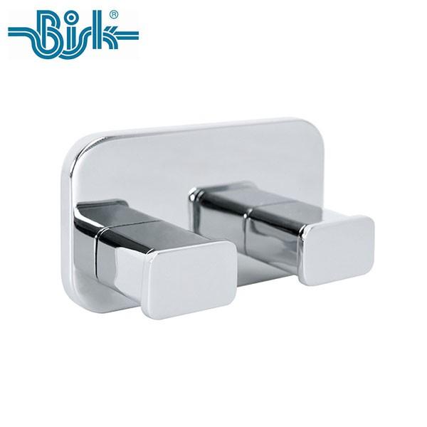 P5倍 OPUS BISK TORE ダブルフック BKTR-WH7823CH 洗面所 ステンレス シルバー 壁取付 ネジ付 収納フック ビスク オーパス
