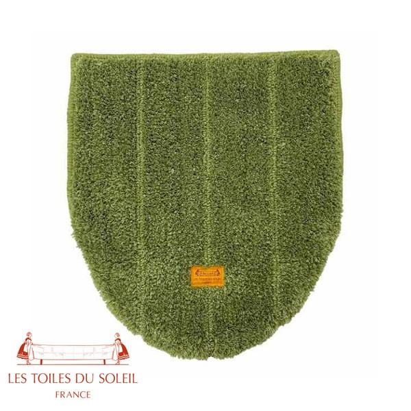 P5倍 レ・トワール・デュ・ソレイユ 兼用蓋カバー ルノワール ストライプ Les Toiles du Soleil トイレ 緑 青 グリーン ブルー