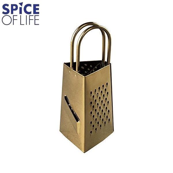 SPICE OF LIFE おろし金 3面ミニチーズグレーター BONO BONO ブラスカラー HLLH2010 スパイス