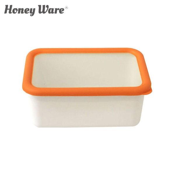 全品P5〜10倍 富士ホーロー Honey Ware オランジェ 深型角容器 M オレンジ OG-DM 保存容器 ハニーウェア CODE:322450