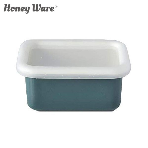 全品P5〜10倍 富士ホーロー Honey Ware Cotton 浅型角容器 レクタングル SS スモークブルー CTN-SS.SB 保存容器 ハニーウェア コットン C