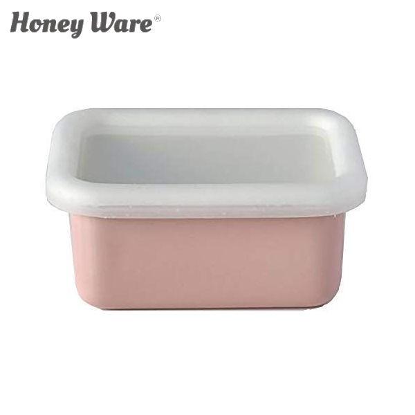 全品P5〜10倍 富士ホーロー Honey Ware Cotton 浅型角容器 レクタングル SS アッシュピンク CTN-SS.AP 保存容器 ハニーウェア コットン C