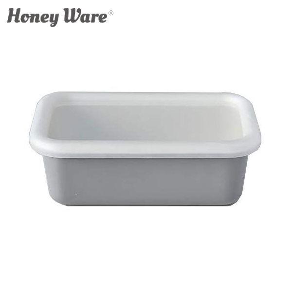 全品P5〜10倍 富士ホーロー Honey Ware Cotton 浅型角容器 レクタングル S ライトグレー CTN-S.LG 保存容器 ハニーウェア コットン CODE
