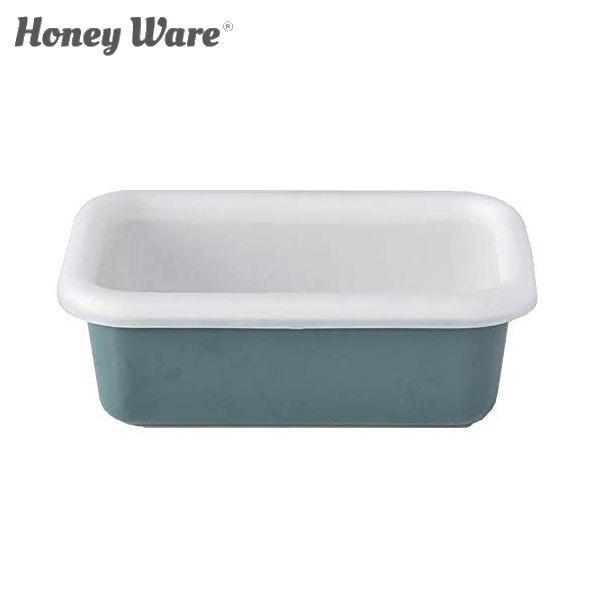 全品P5〜10倍 富士ホーロー Honey Ware Cotton 浅型角容器 レクタングル S スモークブルー CTN-S.SB 保存容器 ハニーウェア コットン COD