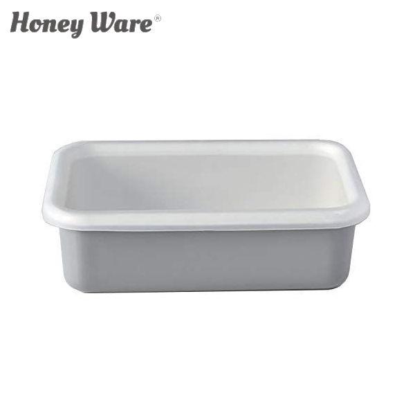 全品P5〜10倍 富士ホーロー Honey Ware Cotton 浅型角容器 レクタングル M ライトグレー CTN-M.LG 保存容器 ハニーウェア コットン CODE