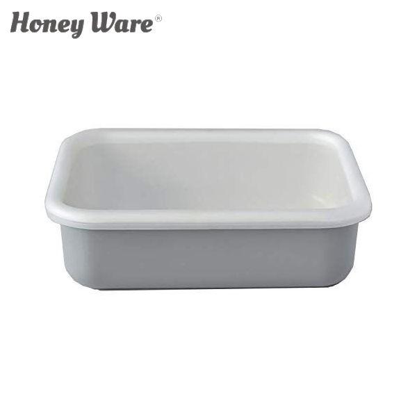 全品P5〜10倍 富士ホーロー Honey Ware Cotton 浅型角容器 レクタングル L ライトグレー CTN-L.LG 保存容器 ハニーウェア コットン CODE