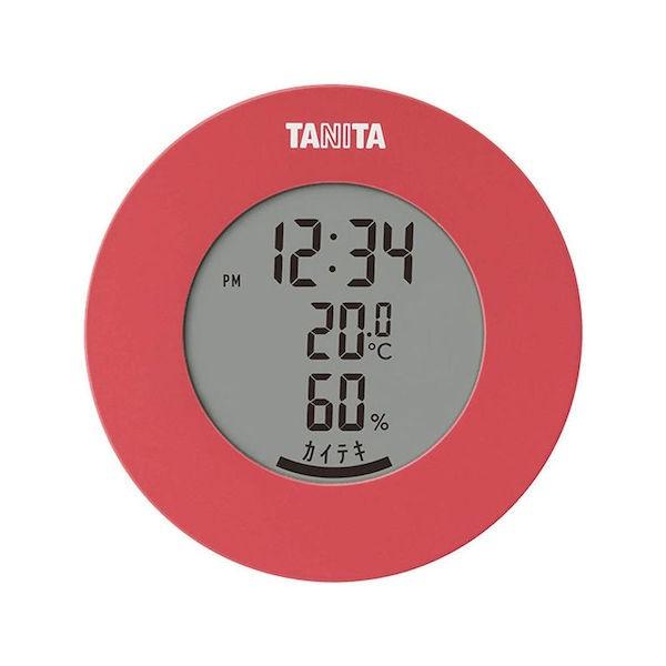 タニタ デジタル 温湿度計 ピンク TT-585