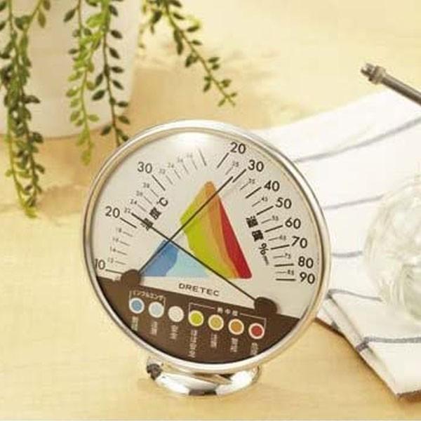 dretec 温湿度計 O-311WT 熱中症 インフルエンザ警告 ドリテック