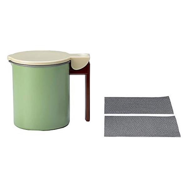 フッ素コート 活性炭 油ろ過ポット 0.55L グリーン KWPM-0.55 高木金属