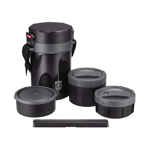 全品P5〜10倍 オクタス 保温ランチジャー グレー 1800 ステンレス HB-3769 パール金属
