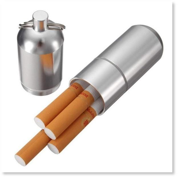 筒型携帯灰皿 シガレットケース 煙草入れ ピルケース マッチ タバコケース キーホルダー 軽量/頑丈アルミ製
