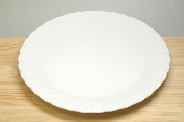 K/Wホワイト12吋大皿【白/食器/陶器/磁器/白磁/チョップ皿/取り分け皿/メインディッシュ/ホテル/プロ使用/業務用/本格】【stockヤ】