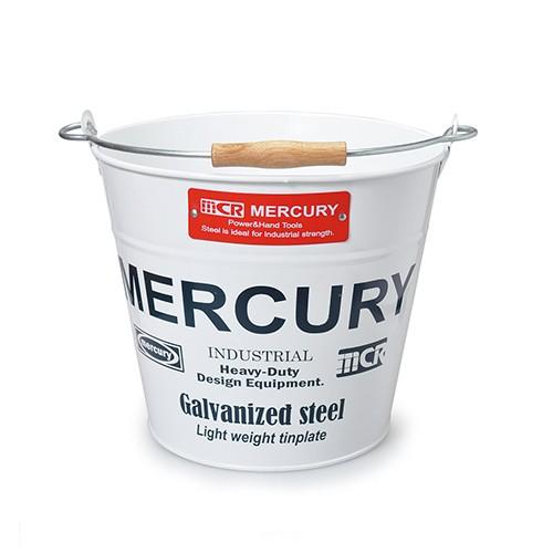 MERCURY マーキュリー ブリキバケツ レギュラー ホワイト