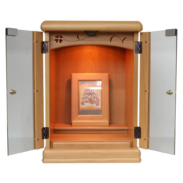 小型仏壇 14号チェリー(淡) モダン仏壇 家具調仏壇