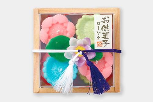 お供菓子 落雁(らくがん)ローソク カメヤマ 故人の好物シリーズ ローソク ろうそく
