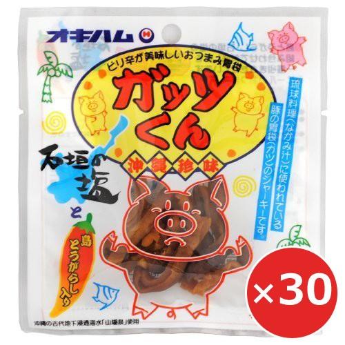 ジャーキー おつまみ 豚ホルモン ホルモン オキハム ジャーキー ガッツくん 15g×30個 沖縄土産