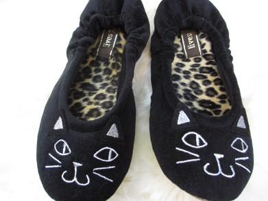 バレエルームシューズ Wakeup Cat(ウェイクアップ・キャット) ブラック/レディース(〜24cm程度まで)