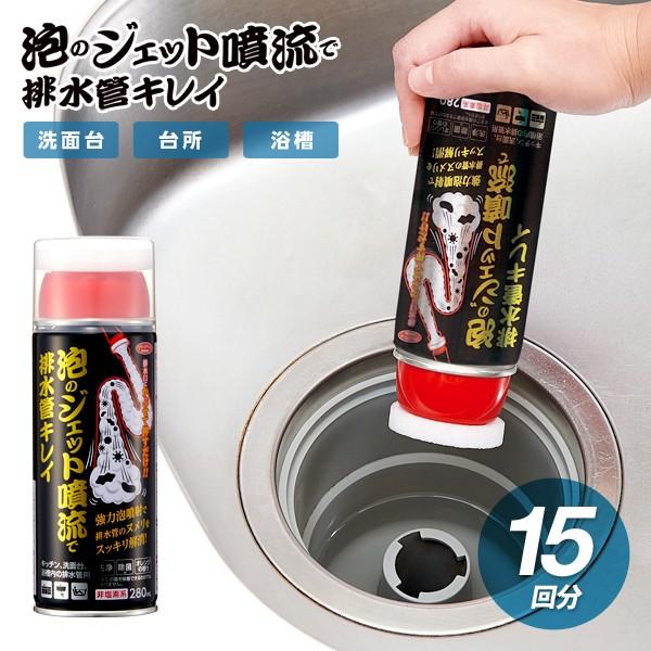 ジェット噴流 洗浄剤 排水管 排水口 洗剤 排水溝 洗剤 泡 15回分 掃除 消臭 ヌメリとり 排水口クリーナー