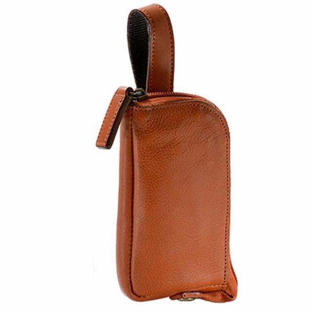 日本製 ウエストポーチ メンズ ウエストバッグ タテ型 ベルトポーチ 縦型 軽量 ウエストバッグ 本革 革 牛革 レザー 男性用 紳士用 鞄 ベ