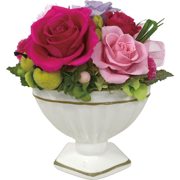お花 アレンジメント ギフト 贈り物 贈答 カラン(プリザーブドフラワー・クリアケース入) 内祝 出産内祝い 内祝い 香典返し 快気祝い
