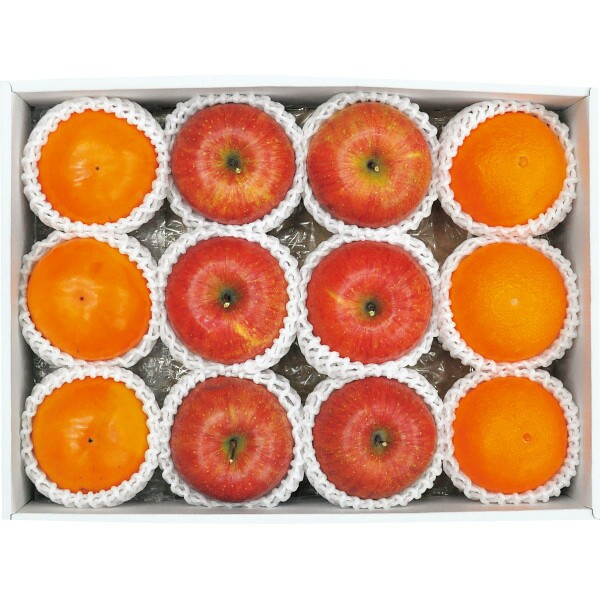 お歳暮 冬 ギフト お祝い 贈り物 御歳暮 果物 フルーツ 林檎 リンゴ りんご みかん 蜜柑 ミカン かき 柿 冬のフルーツ詰合せ A