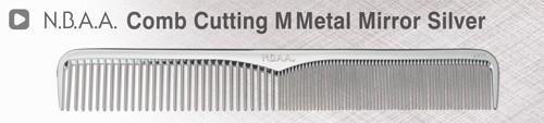 エヌ・ビー・エー・エー メタリックコーム カッティングコーム M 【NB-CM01】 メタルミラーシルバー