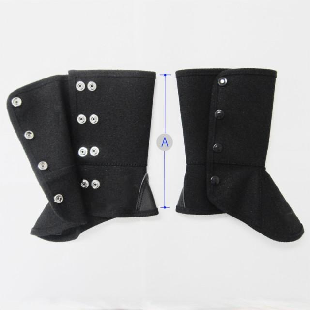 黒帆布脚絆プロテクト ボタン式 KR-BFE 【大中産業】 | 作業 現場 多用途 マルチ 仕事 ビジネス