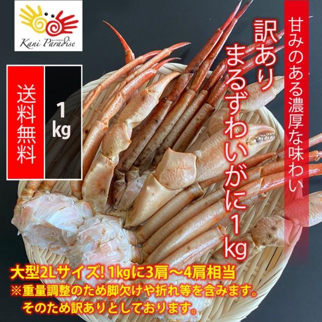 訳あり まるずわいがに 1kg / かに カニ 蟹 オオエンコウガニ おおえんこうがに マルズワイガニ 丸ズワイガニ お中元 御中元 敬老の日