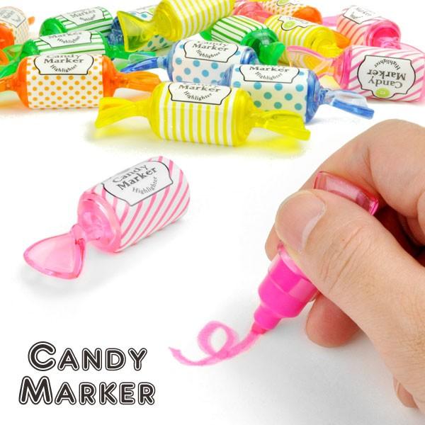 キャンディーマーカー CANDY MARKER カラフルな蛍光ペン 15個セット かわいい蛍光ペン