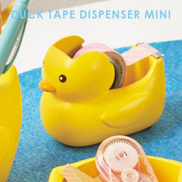マスキングテープ カッター ダックテープディスペンサーミニ DUCK TAPE DISPENSER MINI テープカッター テープ台 あひるちゃん グッズ お