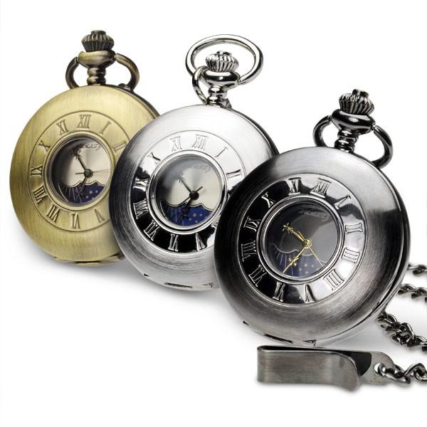 懐中時計 アンティーク 限定 モデル ジェロット ネックレス チェーン 付き ポケットウォッチ アンティーク 風な サン & ムーンフェイス