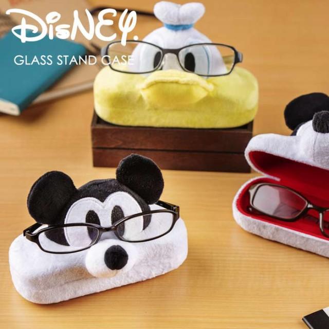 Disney メガネ スタンド ケース メガネケース 眼鏡 入れ ディズニー グッズ ミッキーマウス ミニーマウス ドナルドダック めがねケース