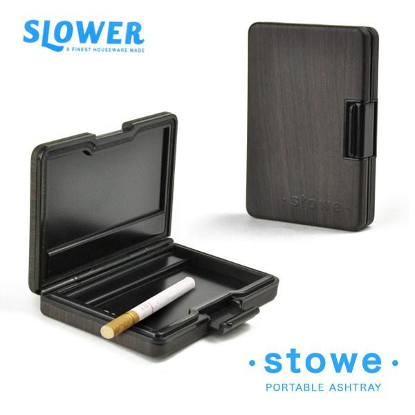 携帯灰皿 STORE WOODモデル 密閉式携帯灰皿 カード型 おしゃれ アイコス ブランド SLOWER メンズ レディース 木目調 プレゼント ギフト