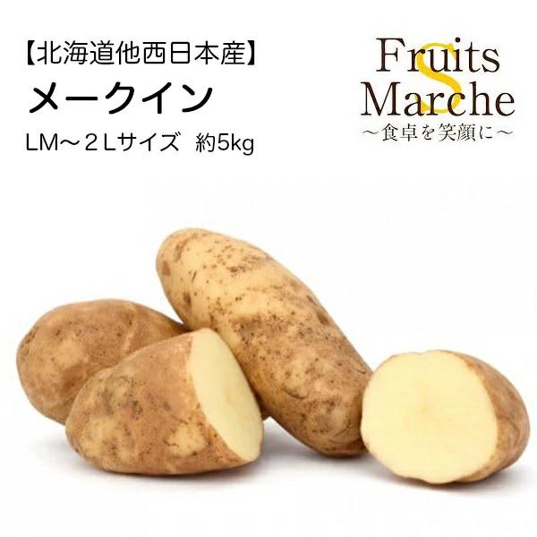 【送料無料】【北海道他西日本産】メークイン LM〜2Lサイズ 約5kg(北海道沖縄別途送料加算)母の日/野菜宅配/じゃがいも/ジャガイモ/じ