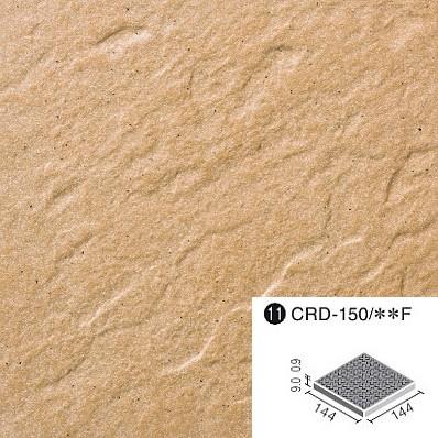 クレド 外装床タイル 150mm角歩道用スロープ(Fパターン) CRD-150/8F