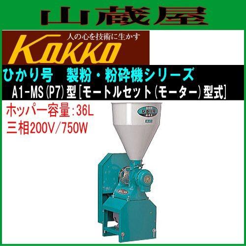 国光社 家庭用・業務用製粉・粉砕機 ひかり号 A1-MS(P7)三相200V