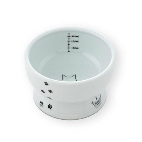 猫壱 ハッピーダイニング 脚付ウォーターボウル 猫柄 シリコン付き
