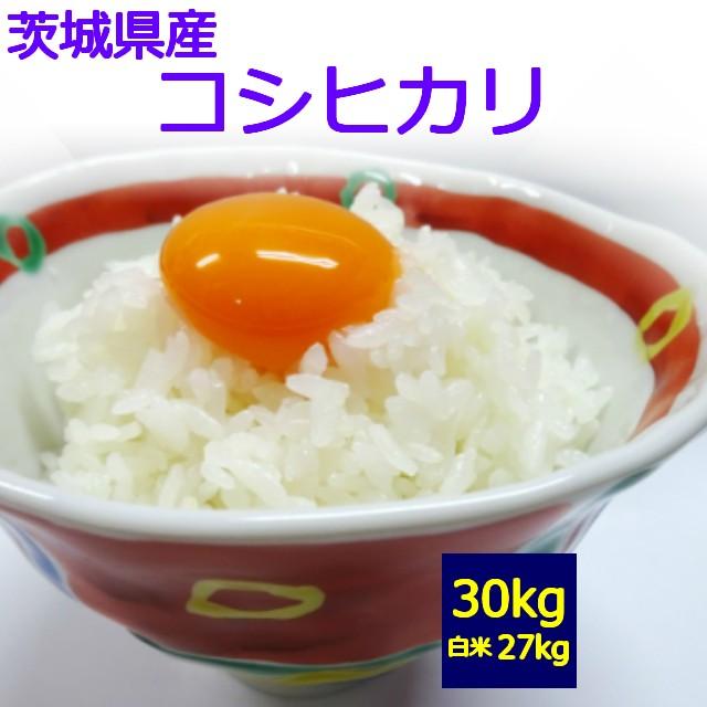 【送料無料】【玄米】【白米】茨城県産 コシヒカリ 30kg お取り寄せ【令和01年産】30キロ お米