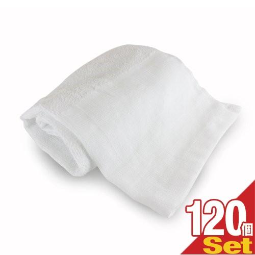 (あす着)(ホテルアメニティ)業務用 フェイスタオル 平地付き 綿100% 160匁 34x85cm ×120枚セット(10ダース) - 性別を問わない清潔感の